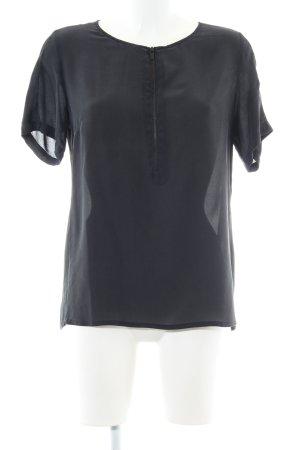 Comptoir des Cotonniers Kurzarm-Bluse schwarz Business-Look