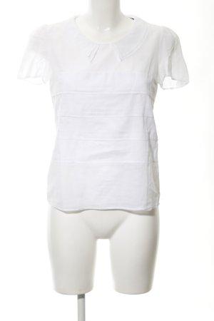 Comptoir des Cotonniers Kurzarm-Bluse weiß Casual-Look