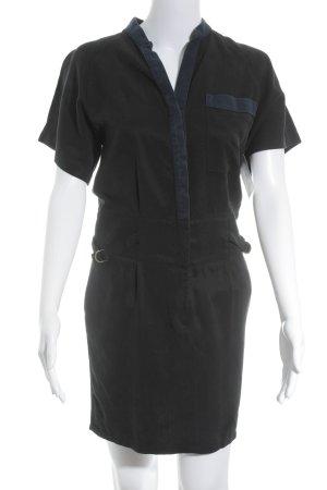 Comptoir des Cotonniers Kurzarmkleid schwarz-dunkelblau Casual-Look