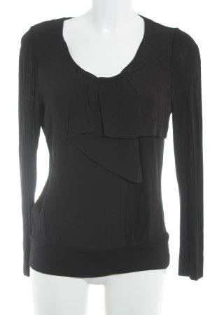 Comptoir des Cotonniers Langarm-Bluse schwarz Elegant