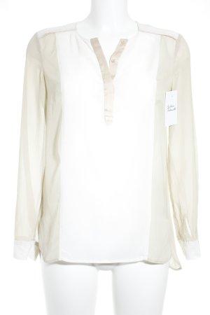 Comptoir des Cotonniers Langarm-Bluse weiß-beige Colourblocking