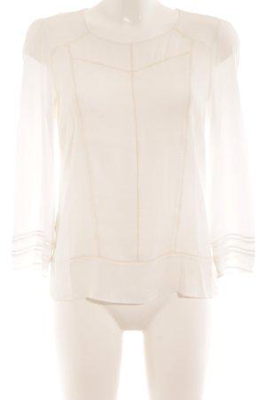 Comptoir des Cotonniers Langarm-Bluse weiß minimalistischer Stil