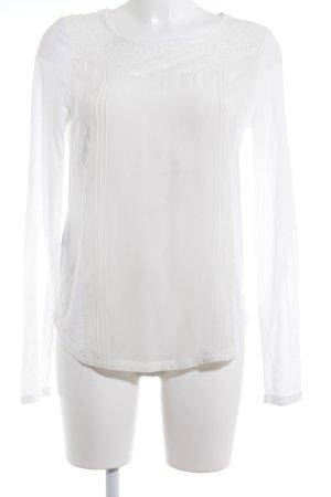 Comptoir des Cotonniers Langarm-Bluse weiß-wollweiß Elegant