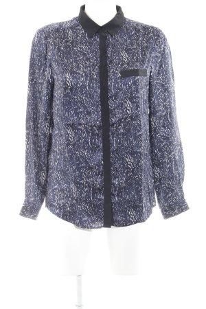 Comptoir des Cotonniers Langarmhemd dunkelblau-schwarz abstraktes Muster