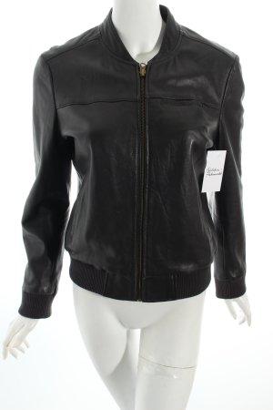 Comptoir des Cotonniers Lederjacke schwarz schlichter Stil