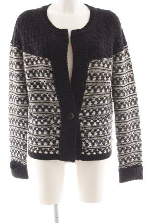 Comptoir des Cotonniers Cardigan norvegese nero-bianco sporco motivo astratto