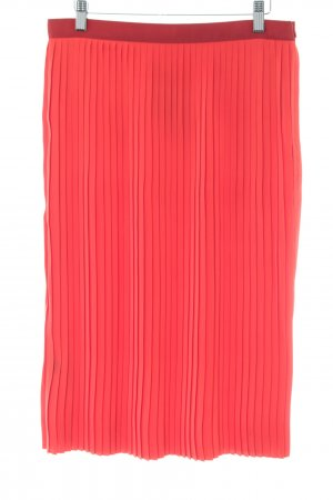 Comptoir des Cotonniers Pleated Skirt red business style