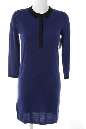 Comptoir des Cotonniers Robe Polo noir-bleu foncé style classique