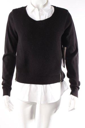 Comptoir des Cotonniers Pullover schwarz-weiß