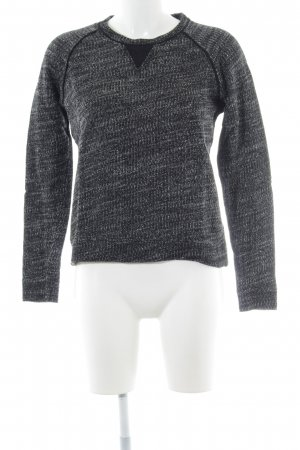 Comptoir des Cotonniers Rundhalspullover schwarz-weiß Webmuster Casual-Look