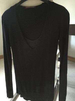 Comptoir des cotonniers - Sehr edler Pullover mit Seiden-Unterhemd in dunkelblau