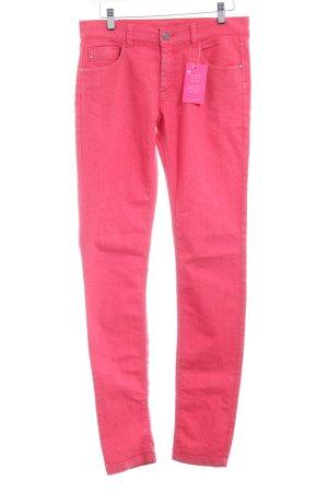 Comptoir des Cotonniers Skinny Jeans hellrot-weiß schlichter Stil