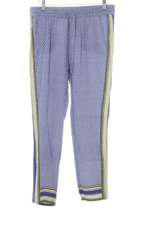 Comptoir des Cotonniers Stoffhose blau-weiß abstraktes Muster Boho-Look