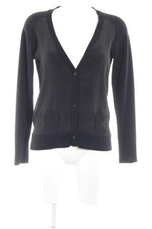 Comptoir des Cotonniers Strick Cardigan schwarz klassischer Stil