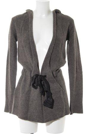 Comptoir des Cotonniers Giacca in maglia marrone-grigio-nero stile casual