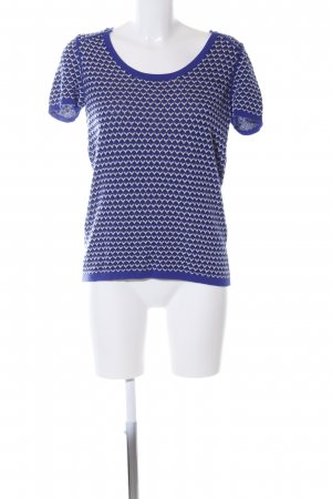 Comptoir des Cotonniers Strickshirt blau-weiß Allover-Druck Casual-Look