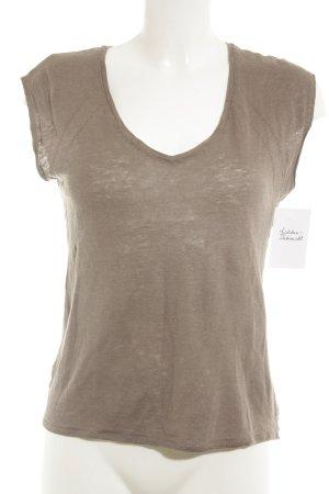 Comptoir des Cotonniers Camisa tejida marrón grisáceo look casual