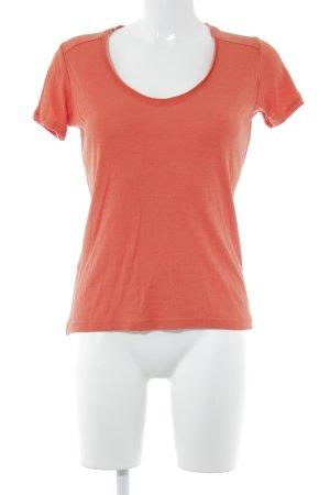 Comptoir des Cotonniers Camisa tejida naranja neón Patrón de tejido
