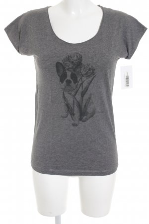 Comptoir des Cotonniers T-Shirt grau Motivdruck schlichter Stil