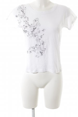 Comptoir des Cotonniers T-Shirt weiß Kunstmuster Casual-Look