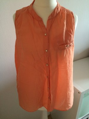 Comptoir des Cotonniers Top Bluse 38 M NEU orange lachs Hemd Shirt peach