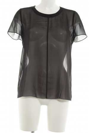 Comptoir des Cotonniers Transparenz-Bluse schwarz Casual-Look