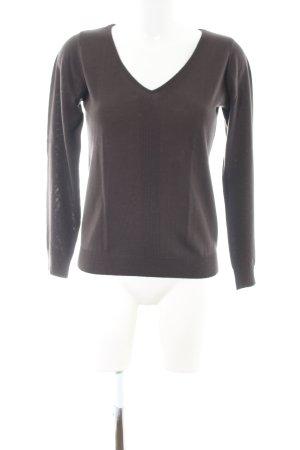 Comptoir des Cotonniers V-Ausschnitt-Pullover braun Casual-Look