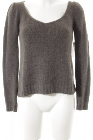 Comptoir des Cotonniers V-Ausschnitt-Pullover grau Casual-Look