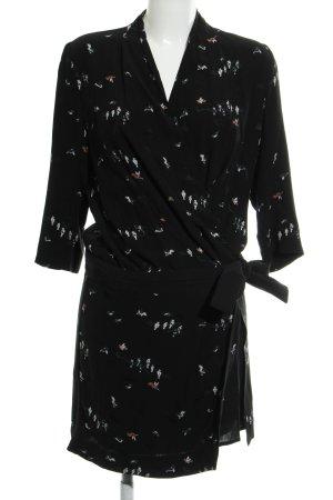 Comptoir des Cotonniers Robe portefeuille motif animal élégant
