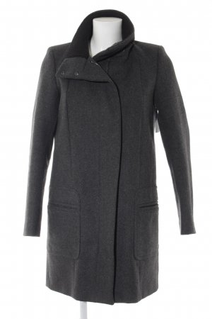 Comptoir des Cotonniers Cappotto in lana grigio scuro-nero stile classico