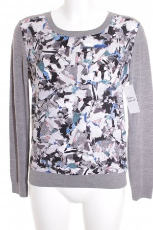 Comptoir des Cotonniers Wollpullover abstraktes Muster Materialmix-Look