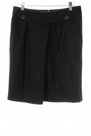 Comptoir des Cotonniers Wollen rok zwart zakelijke stijl