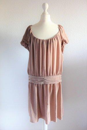 Comptoirs des Cotonniers Kleid puder nude Flapper 20er Gr. 42 (36/38/40)