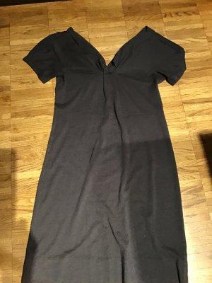 Vestido de lana gris oscuro