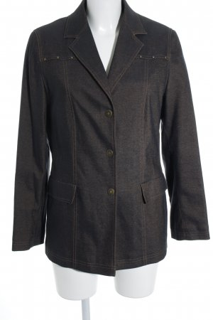Concept K Denim Blazer dark blue-beige retro look