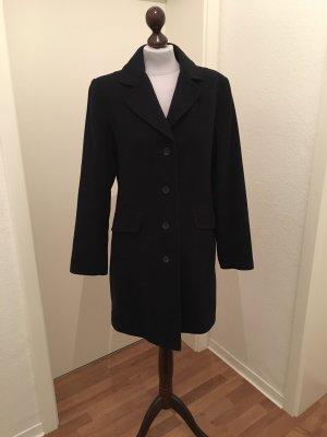 Concept K Manteau en laine bleu foncé