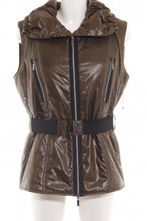 Concept K Quilted Gilet brown casual look
