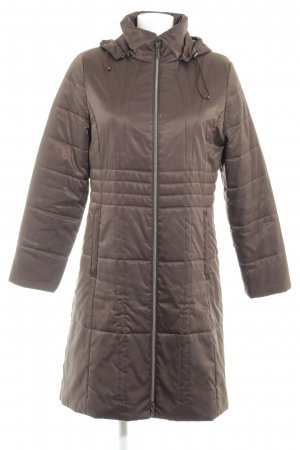 Concept UK Quilted Coat brown red quilting pattern casual look