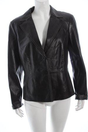 Concerto Leather Blazer black-cream