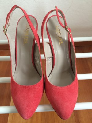 Conleys Backless Pumps bright red others