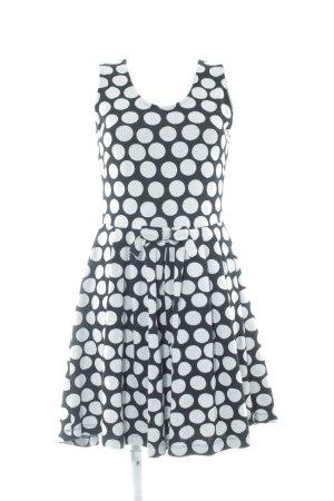 Conleys A-Linien Kleid schwarz-hellgrau Punktemuster Casual-Look