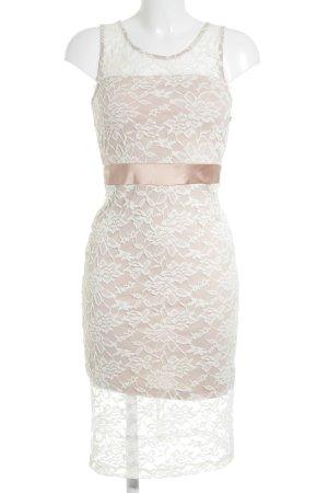 Conleys Abendkleid weiß-altrosa Elegant