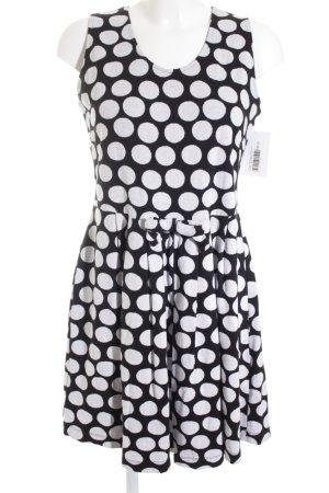 Conleys Abendkleid weiß-schwarz Punktemuster Casual-Look