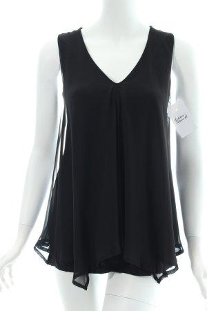 Conleys ärmellose Bluse schwarz klassischer Stil
