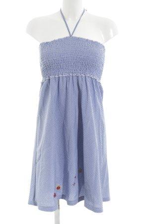 Conleys Bandeaukleid blau-weiß Karomuster Casual-Look