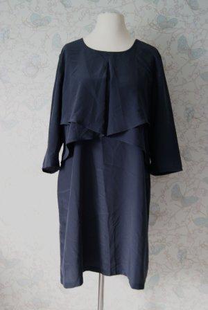 Conleys Black Kleid im Lagen-Look, dunkelblau, Gr. 44 (XL), NEU