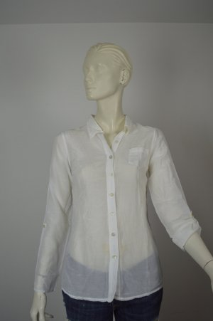 CONLEYS BLACK leicht transparente 3/4 Bluse in offwhite NEU Gr 34 XS