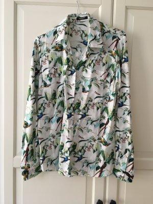 Conleys Black, tolle Bluse mit Vogelprint, Gr. 36, NEU
