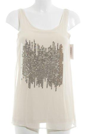 Conleys Blusentop creme-silberfarben Street-Fashion-Look