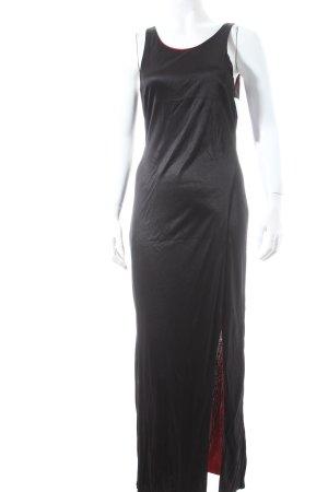 Conleys Vestido cut out negro-rojo estilo fiesta